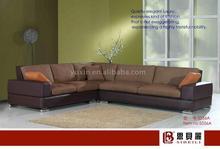 sectional brown sofa/classic corner sofa set/high quality corner sofa set