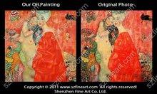 100% handmade high quality Gustav Klimt nude girl oil painting