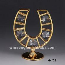 placcato in oro 24k decorativi ferro di cavallo per la vendita