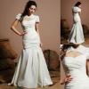 WD-A071 Mermaid Hot Sale Sweetheart Long Taffeta Wedding Dress 2011 Fashion With Jacket