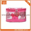 Beauty design double zipper red cosmetic bag
