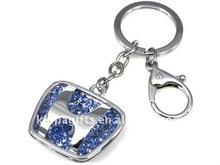 Crystal Auto Car Logo Metal Keychain key ring key fobs