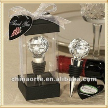 Hot Sale Crystal Ball Wine Stopper for Wedding Favor