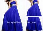 Hot sale Plus size Escrow One-Shoulder Blue Evening Dress
