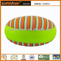 Foam beads filled round cushion satin