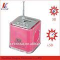 T-630 mini alto-falante caixa de som com fm