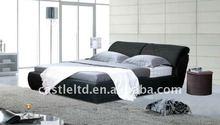 Soft fabric covered wooden framd bed,modern comfortable living room set