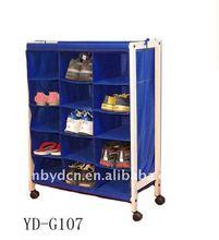 movable 15 compartment shoe rack
