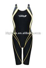 (Hot Selling) Ladies Long Black Full Body Swimsuit