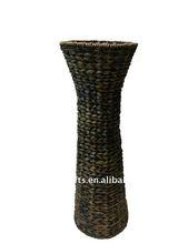 Decorative seagrass flower vase