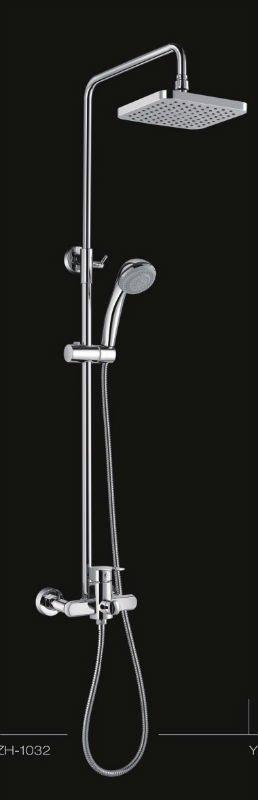 mezclador de la ducha con abs de plástico y material de acero inoxidable