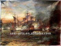 pirate ship sea battle ocean seascape oil painting SJD-022
