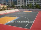 University basketball court flooring