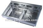 big stainless steel kitchen sink