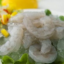 IQF FROZEN RAW PENAEUS VANNAMEI WHITE SHRIMP PRAWN MEET PEELED CUT DEVEINED TAIL-OFF (PD T-OFF)