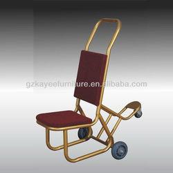 modern metal hotel equipment heavy equipment trolley banquet chair trolley