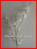 white artificial silk dancing lady orchid flower