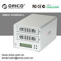 Orico 3529rus3- l 2 bahía 3.5 pulgadas disco duro recinto raid pantalla lcdindicación usb sata 3.0 e- sata de disco duro caso