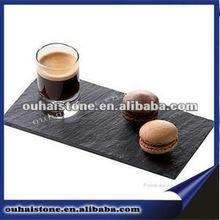 2012 Christmas Black Slate Stone Dinner Plate(Hot sale)