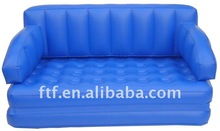 Hot sell inflatable pvc blue sofa
