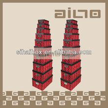 rectangular flock printing snake pattern decorative paper boxes
