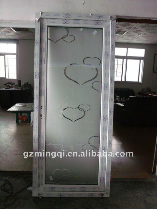 Pvc verre int rieur porte de salle de bains portes id du for Porte coulissante salle de bain verre