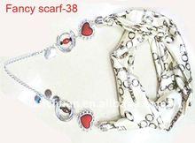 Fashion Satin Pendant Scarf with Jewellery