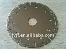 V slot segmented saw blade for masonar cutting