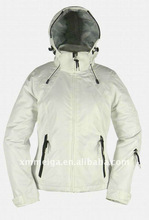 2012New products, women ski jacket,100% polyester fabric,100g padding,new designs