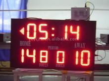 Indoor basketball scoreboard