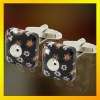 high fashion design top quality stone inlaid make custom cufflinks