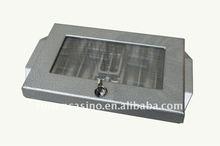 aluminium poker chip tray casino chip tray blackjack chip tray