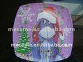 """13007 - 13010 7''10 """" placa cuadrada de melamina / 2012 caliente de la navidad productos"""