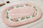 South Korea Style! high quality beautiful Mat/wuxi Factory Red Color Machine Washable Custom Size Bath Rugs