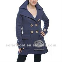 Woolen Long Sleeve Ladies' new fashion pea coat