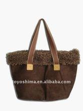 Fashion suede handbags for ladys