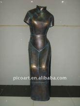 metal sculpture,metal statue art in antique color