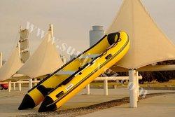 2013 new pvc inflatable aluminum floor motor boat inflatable boat rib