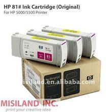 Original HP 81 Genuine Ink Cartridge for HP5000/5500 (All color provide)