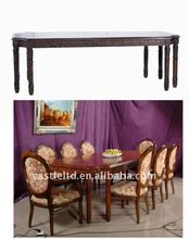Square Conference 8-legs Table,wooden faux marbled top dining room table
