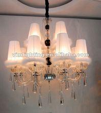 Modern white elegant Crystal chandelier/pendant lamp