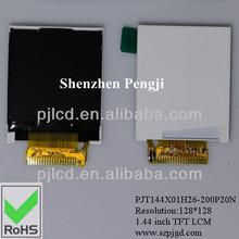 1.44 inch tft active matrix lcd manufacturer (PJT144X01H26-200P20N)