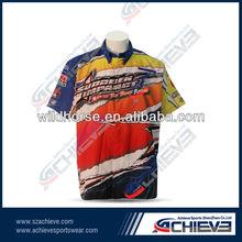 custom printed motorcycle racing t shirt