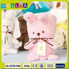 Rabbit gift set fleece baby blankets