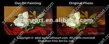 High quality Martin Johnson's famous velvet oil painting