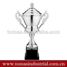 silver metal award trophy cup craft