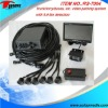 PS-7004 professional video parking sensor system with lcd monitor, CMOS/CCD camera, waterproof connection