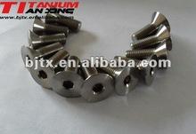 Flat head titanium screw