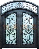 Ornamental elegant wrought double iron door
