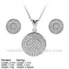 925 Silver Jewelry,Micro Pave CZ,925 bull`s eye Jewelry Sets